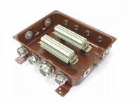 Коробка монтажная КМ 65-40 УХЛ1,5 латунный ввод IP65 ЗЭТА